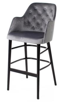 AMY barchair, round wooden legs