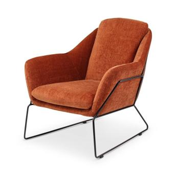 BAY lounge chair, metal sled legs