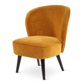 DANA loungechair, round wooden legs