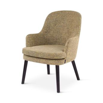 FOX lounge chair, round wooden legs