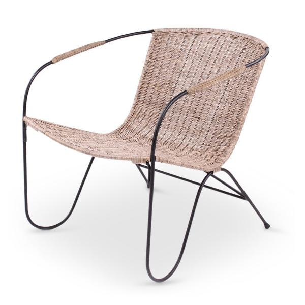 BOBBY lounge chair slimit grey, metal leg charcoal