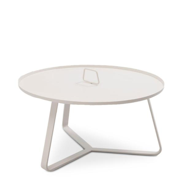 CANNES table basse alu blanc