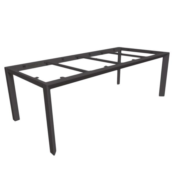 CARLO table base 220 charcoal alu