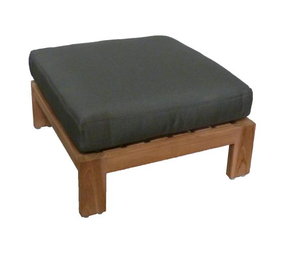 KAY footstool natural incl cushion desert