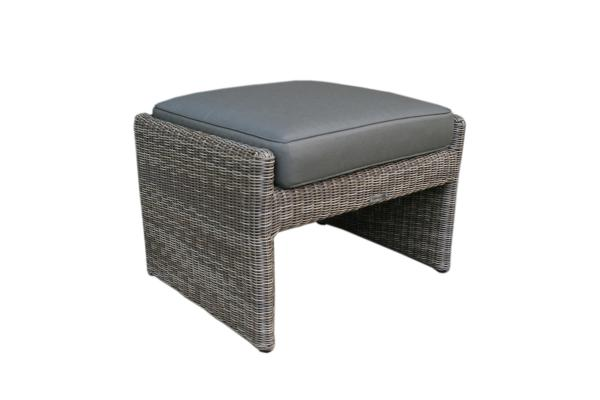 MARTINEZ footstool mistic grey incl cushion army